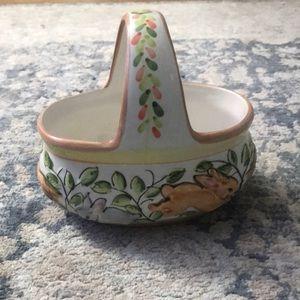 Spring/Easter ceramic basket holder